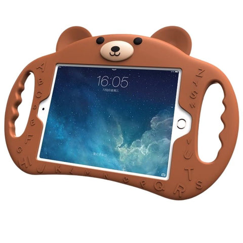 Child Friendly Bear Silicone Case With Holder For iPad - Case Monkey