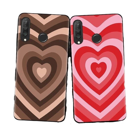 Love Heart Pattern Phone Case For Huawei - Case Monkey