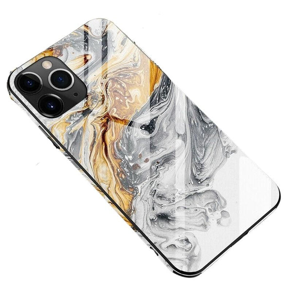 Luxury Marble Full Protective Phone Case For iPhone - Case Monkey