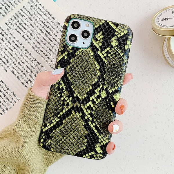 Snake Skin PU Leather Phone Case For iPhone - Case Monkey