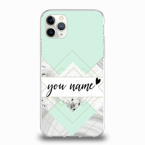 Personalised Green Marble Phone Case For iPhone - Case Monkey
