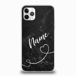 Personalised Black Marble Phone Case For iPhone - Case Monkey