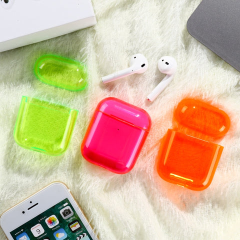 Silicone Fluorescent Transparent Case for Airpods - Case Monkey