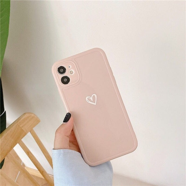 Candy Colours Love Heart Phone Case For iPhone - Case Monkey