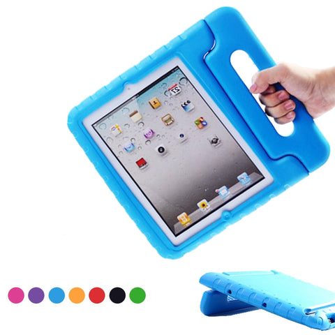 Kids Shockproof Case for Apple iPad 2, 3, & 4 with Handle & Stand - Case Monkey