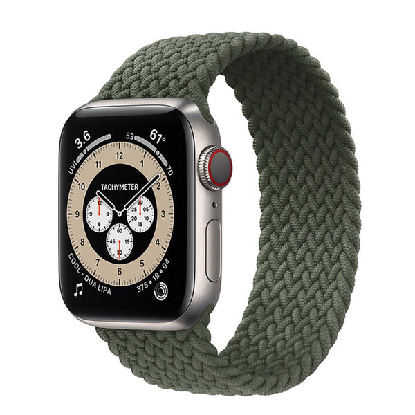 Green Nylon Elastic Strap for Apple Watch All Series - Case Monkey