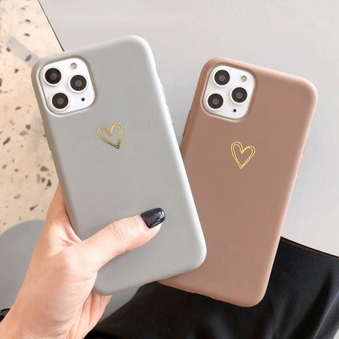 Gold Heart Phone Case For iPhone - Case Monkey