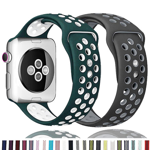 Breathable Silicone Strap For Apple Watch - Case Monkey