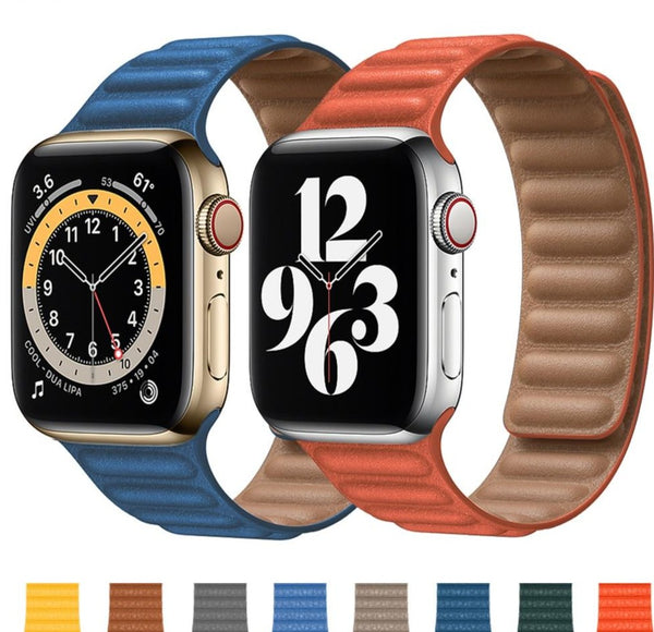 Leather Link Strap/Band For Apple Watch - Case Monkey