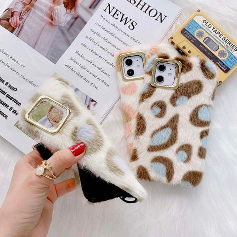 Fluffy Leopard Phone Case For Samsung - Case Monkey