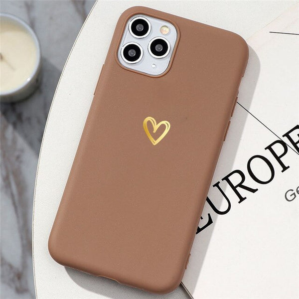 Love Heart Matte Phone Case For Huawei Phones - Case Monkey