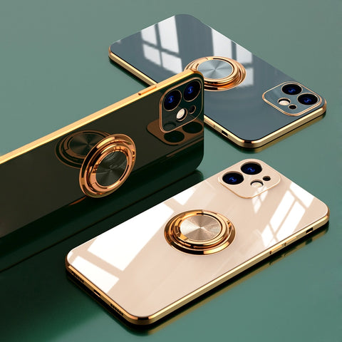 Luxury Plating Pop Socket Phone Case For iPhone - Case Monkey