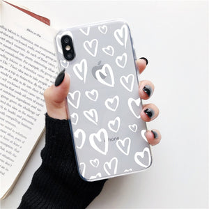 White Heart on a Clear Background Phone Case For Samsung - Case Monkey