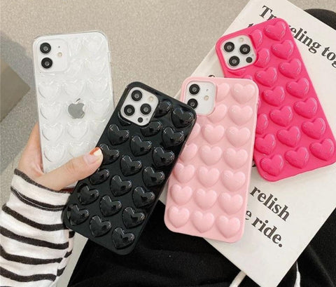 3D Love Heart Phone Case for iPhone - Case Monkey