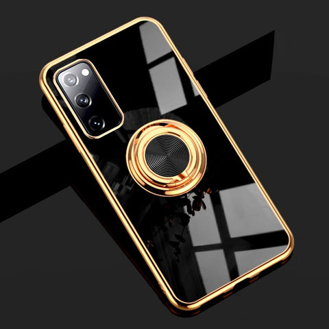 Luxury Plating Pop Socket Phone Case For Samsung