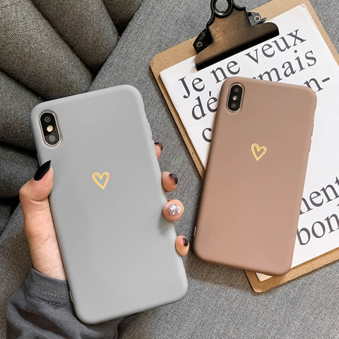 Gold Love Heart Case For Samsung Phones - Case Monkey