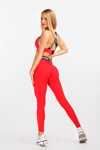 "Bombshell Leggings ""Red"""