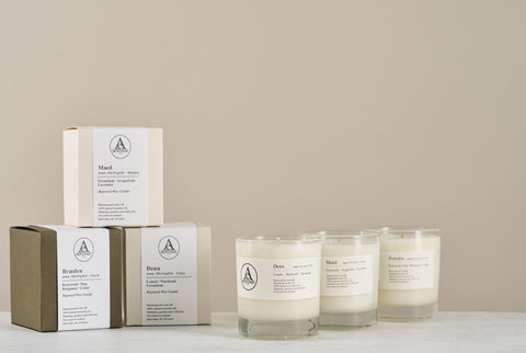 Aerende's scented candle collection