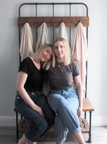 Founders of Kin & Kloth, Toni and Justine