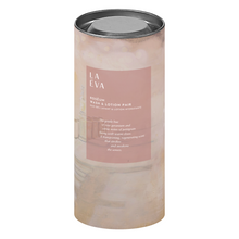 Load image into Gallery viewer, LA-EVA ROSĒUM wash and lotion pair in cylindrical gift box against white background