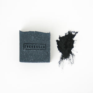 Charcoal, rose and cedarwood natural soap