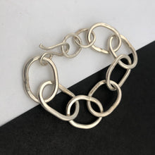Load image into Gallery viewer, Heavy chain bracelet, handmade in recycled silver