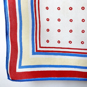 Vintage spot and stripe silk scarf