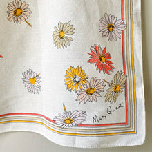 Load image into Gallery viewer, Corner signature detail of vintage Mary Quant scarf