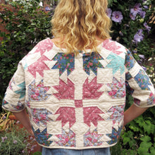Load image into Gallery viewer, Back view of blonde model in Sunday at the Villa's Suki quilted sweatshirt