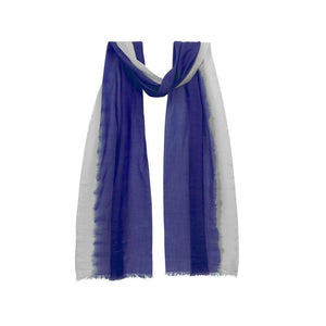 Dip dyed Flash Stripe scarf, blue