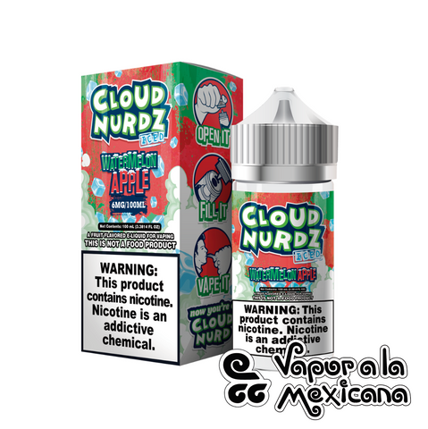Watermelon Apple 100ml | Cloud Nurdz | Vapor a la Mexicana