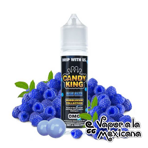 Blue Razz 60ml | Candy King Bubblegum | Vapor a la Mexicana