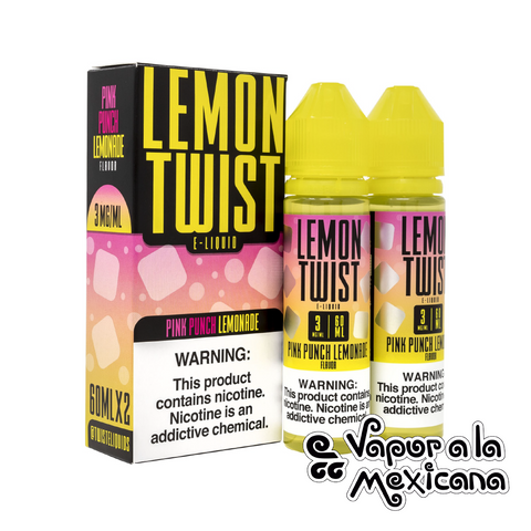 Pink Punch Lemonade (Pink No. 1) 60ml | Lemon Twist | Vapor a la Mexicana