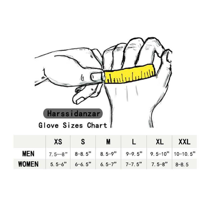 Gloves Size Charts