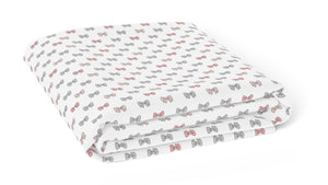 Pink Bows Crib Sheets 1 Pcs