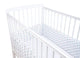 Blue Bow Design Boys Cot Bumper