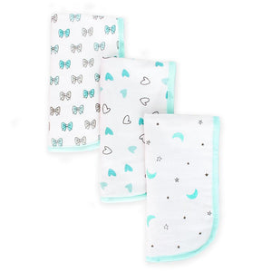 Blue Colour Boys 3 pc Burp Cloth Gift Set
