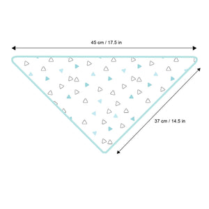 Blue Heart Design Boys 2 pc Feeding Bibs Size Guide
