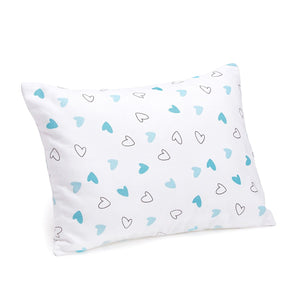 Blue Hearts Bolster  Pillow Set 1 Pcs