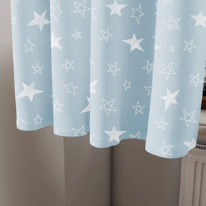 Blue Stars Curtain 2 Pcs