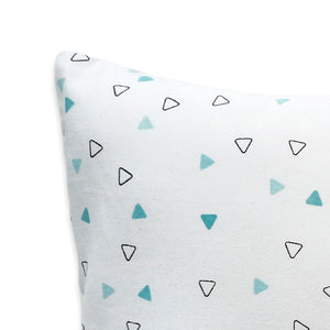 Blue Triangles Bolster  Pillow Set 1 Pcs