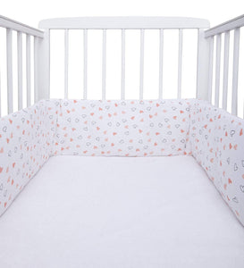 Pink Hearts Design Girls Cot Bumper