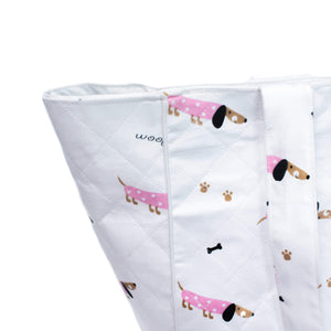 Pink Poodle Baby Lunch Bag - The White Cradle