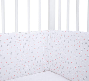 Pink Triangles Cot Bumper