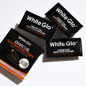 White Glo Charcoal Deep Stain Remover Activated Charcoal Strips