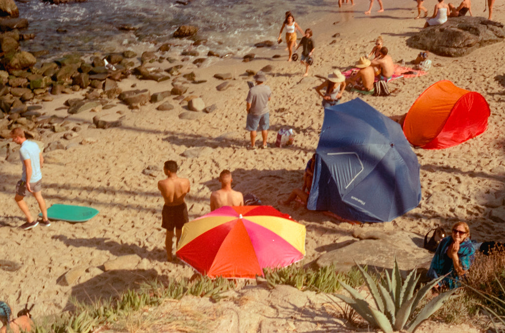 Field Notes from San Diego - Beach & Colorful Umbrellas