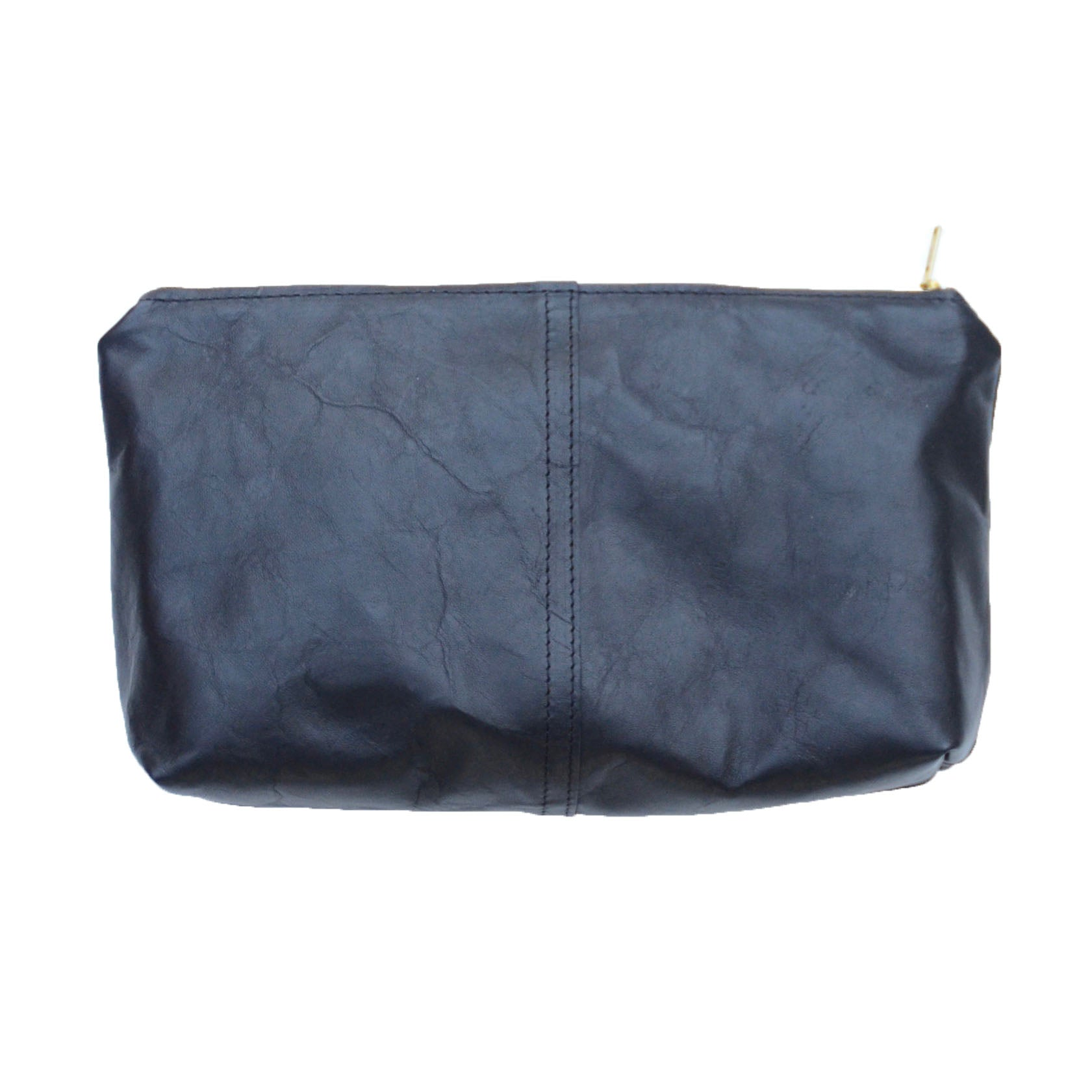 leather touring pouch: black