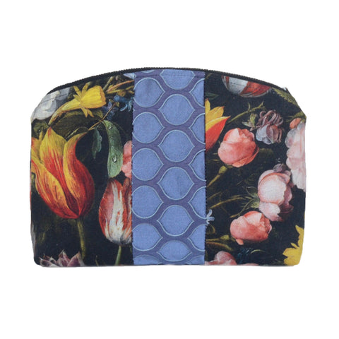 medley pouch: black floral