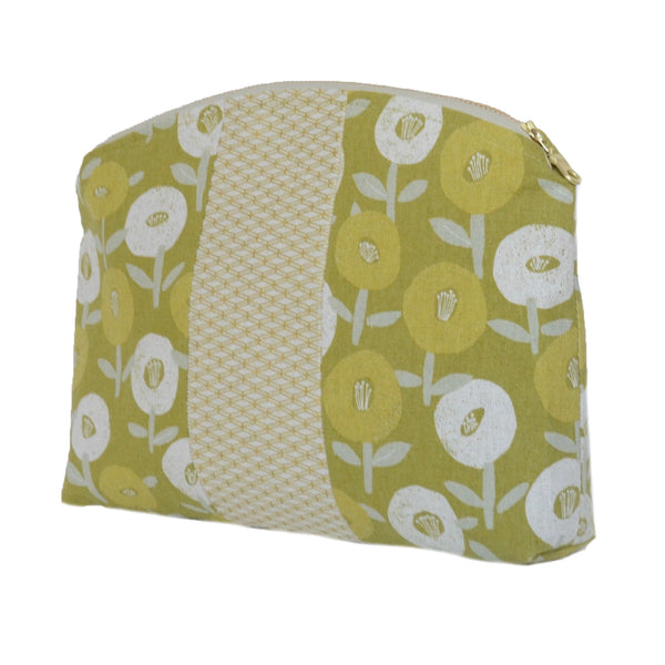 medley pouch: chartreuse floral