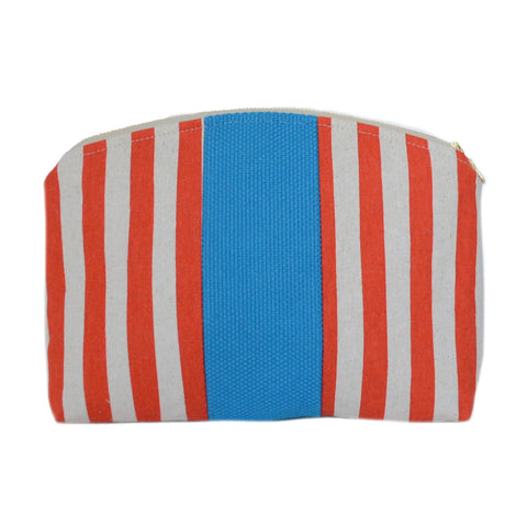 medley pouch: tangerine stripes
